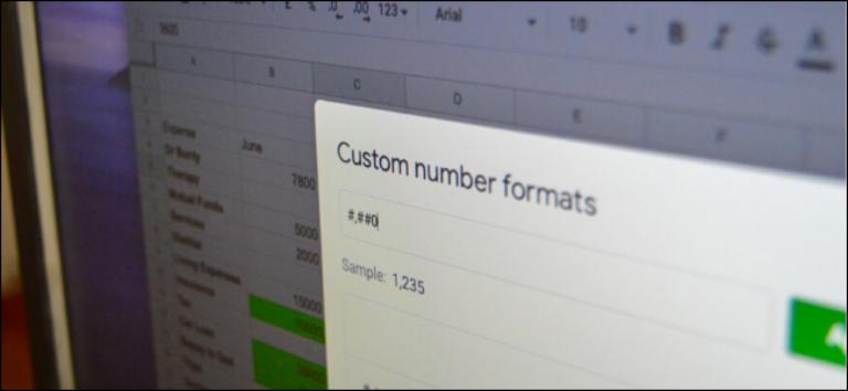 Как изменить и создать пользовательский числовой формат в Google Sheets