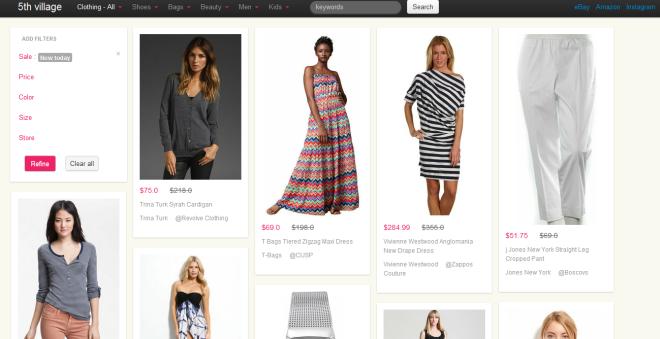 Система визуального поиска в стиле Pinterest для eBay, Amazon и Shopstyle