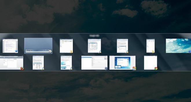 Win7Se предоставляет возможность OS X Expose в Windows