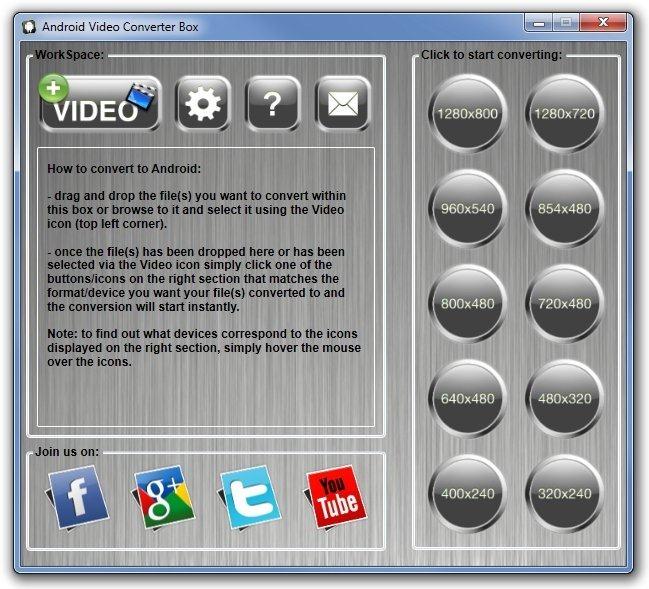 Преобразование видео в разрешения, поддерживаемые вашим устройством Apple / Android