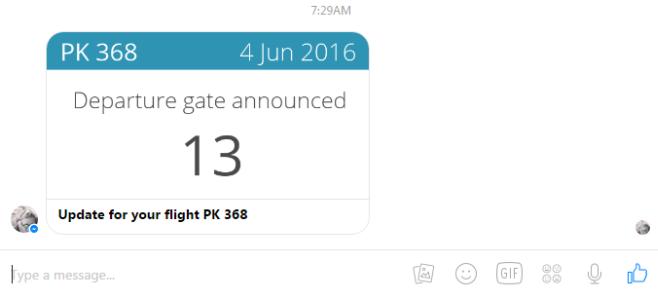 Как отслеживать свой рейс с помощью бота для обмена сообщениями Facebook