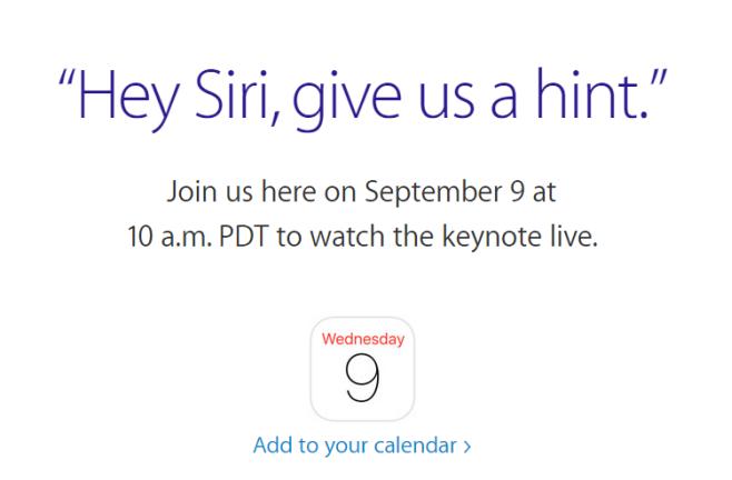 Как смотреть онлайн-мероприятие Apple в сентябре 2015 года