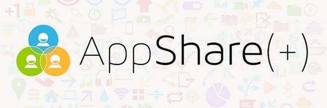 Совместное использование приложений между учетными записями пользователей на планшетах Android 4.2 с помощью AppShare (+)