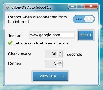 Перезагрузите систему при потере интернет-соединения