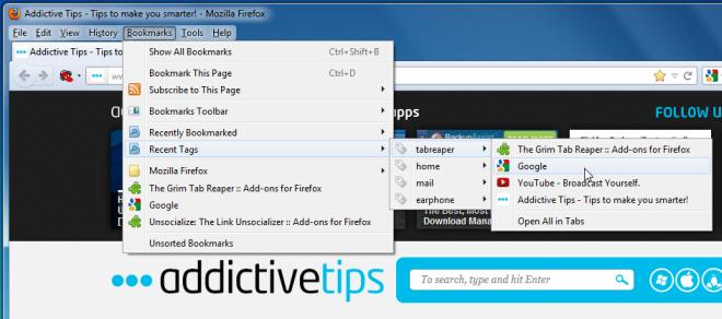 Автоматически добавлять в закладки и закрывать неактивные вкладки Firefox