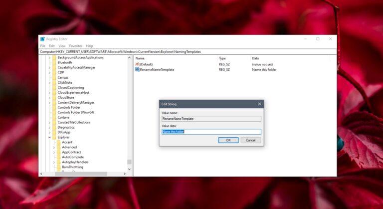 Как изменить имя новой папки по умолчанию в Windows 10