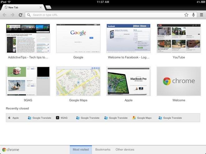 Chrome для iPhone и iPad: синхронизация вкладок / закладок и многое другое в iOS