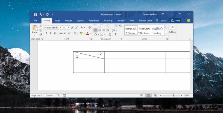 Как разбить ячейку по диагонали в MS Word
