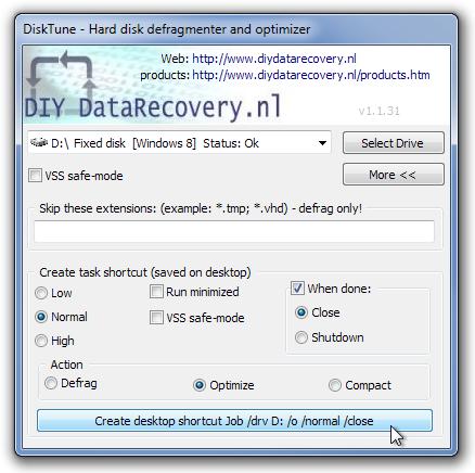 Утилита для оптимизации и дефрагментации дисков Fat, Fat32 и NTFS [DNP]