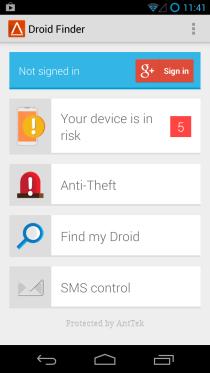 Отслеживание, доступ и стирание потерянного или украденного Android с помощью Droid Finder