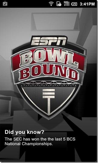 Следите за студенческим футболом с ESPN Bowl Bound 2011 для Android и iPhone