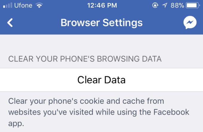 Как очистить кеш браузера приложения Facebook