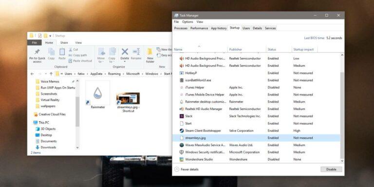 Как открыть файл при запуске в Windows 10