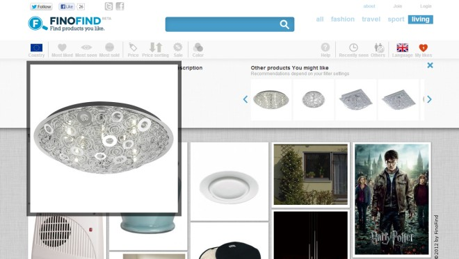 Изящный движок для поиска продуктов, похожий на Pinterest