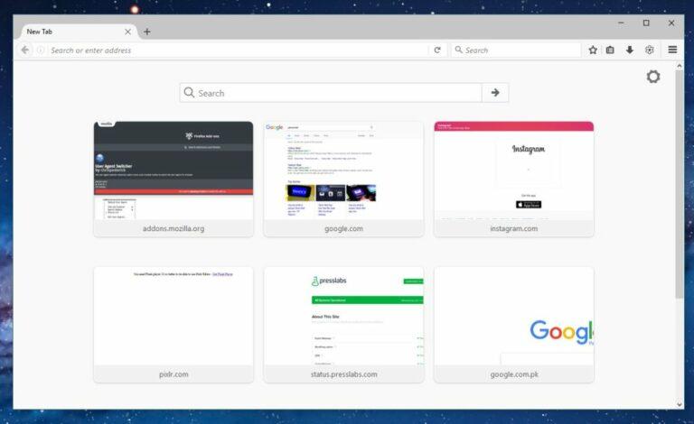 Как добавить веб-сайт в быстрый набор в Firefox