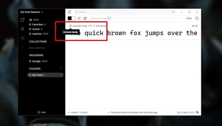 Как включить / отключить шрифты в Windows 10
