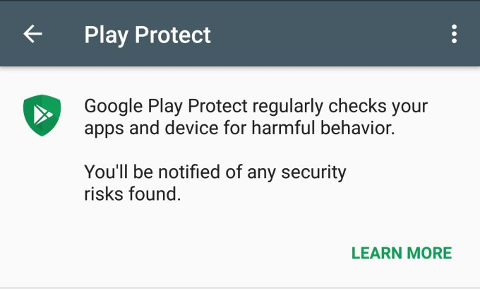 Как включить Google Play Protect на Android