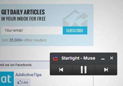 Управляйте воспроизведением Grooveshark с плавающей панели в Chrome