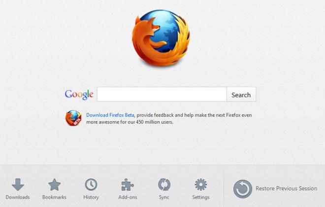 Загрузите Firefox 13 с новой вкладкой и поддержкой SPDY