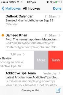 Как быстро удалить сообщения Gmail в почтовом приложении iOS 7