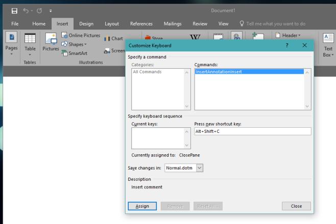 Как создать собственное сочетание клавиш в MS Word 2016