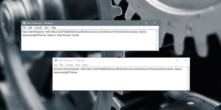 Автоматическое переключение на темную тему ночью в Windows 10