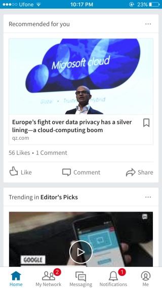 Как сохранять статьи из ленты LinkedIn
