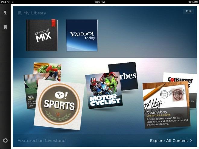 Yahoo Livestand — стильное интеллектуальное новостное приложение для iPad