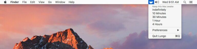 Как временно отключить сон в macOS