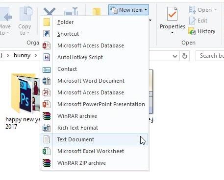 Добавление или удаление приложений из меню новых элементов в проводнике в Windows 10