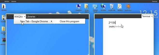 Nucleus добавляет в Windows строку меню с терминалом с быстрым выпадающим списком