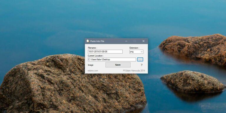 Как сохранить изображение из буфера обмена в файл в Windows 10