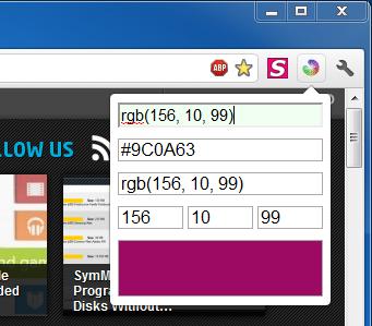 Преобразование значений HEX и RGB, предварительный просмотр цветов во всплывающем окне [Chrome]