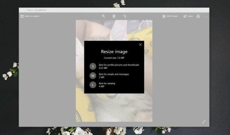 Как изменить размер фотографий в приложении «Фото» в Windows 10