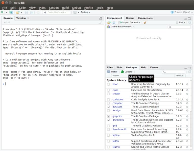 Как настроить RStudio IDE в Linux
