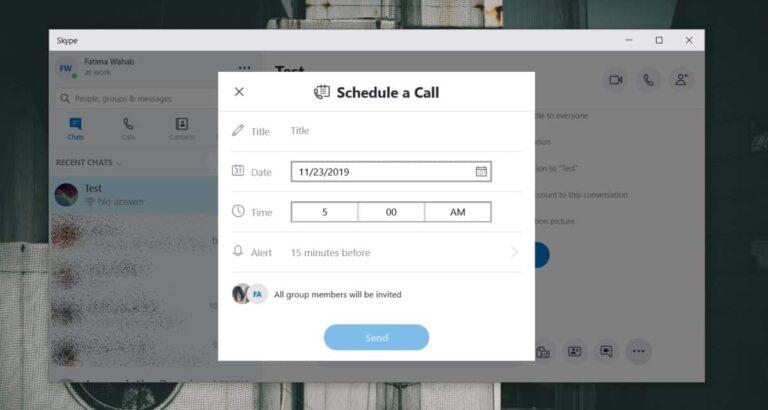 Как запланировать групповой звонок в Skype