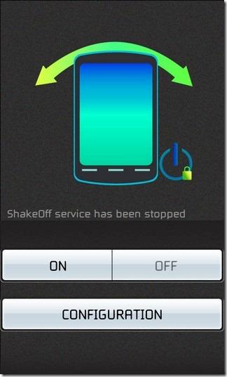 Встряхните, чтобы выключить экран Android-устройства