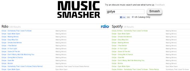 Ищите GrooveShark, Spotify, SoundCloud, Rdio и др.