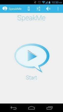 SpeakMe читает уведомления вслух для выбранных приложений Android