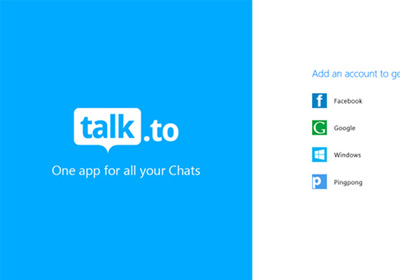 Talk.to переносит свой чат Facebook и агрегатор обмена мгновенными сообщениями GTalk в Windows 8