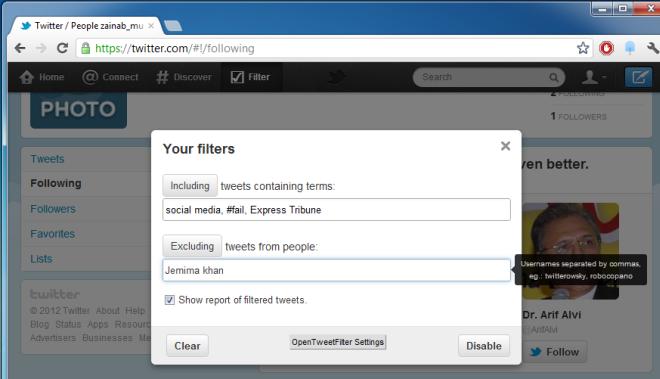 Отфильтруйте свой Twitter-канал на основе контента / ключевых слов или пользователей [Chrome]