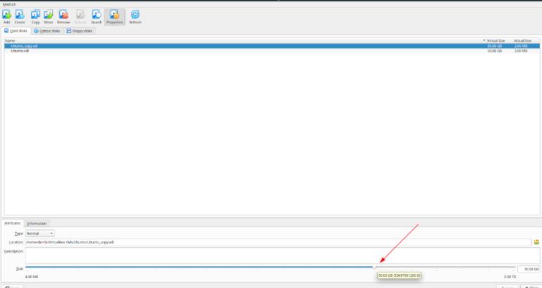 Как увеличить размер жесткого диска в VirtualBox в Linux