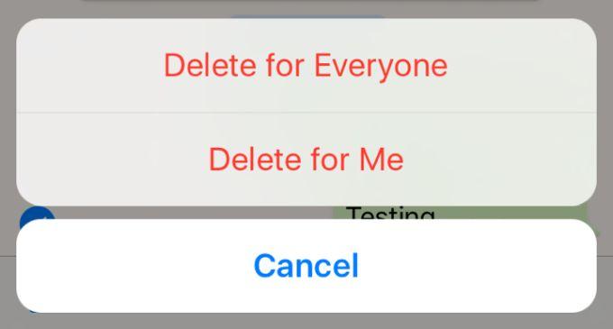 Как отменить отправку сообщения в WhatsApp