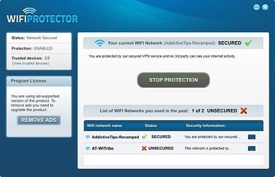 Безопасное соединение Wi-Fi с 256-битным шифрованием и изменением IP-адреса