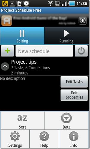 Расписание проекта — бесплатное приложение для управления проектами для Android