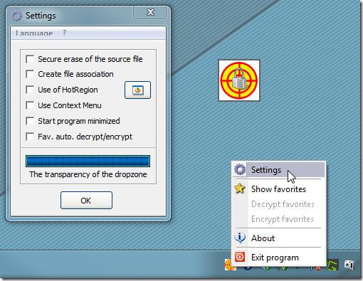 Шифрование файлов с помощью перетаскивания с помощью Drag'n'Crypt ULTRA