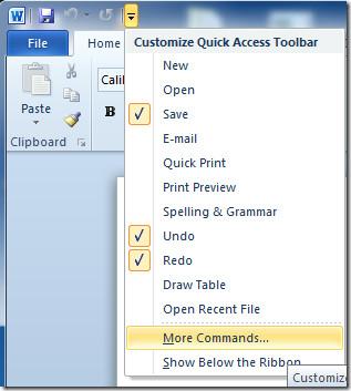 Добавление и создание задач Outlook 2010 из Word 2010