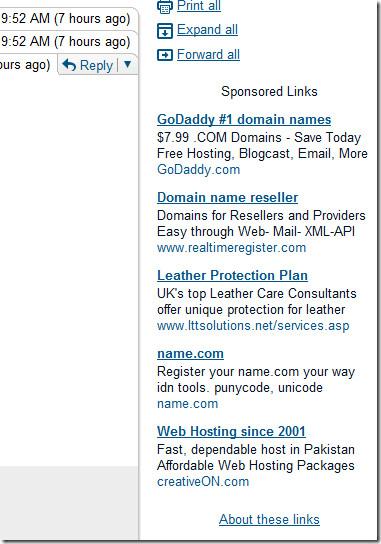 Удалите текстовую рекламу и увеличьте ширину окна сообщения в Gmail