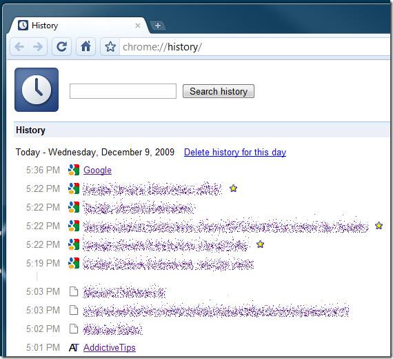 Диспетчер истории Chrome [Hotkey Of The Day]
