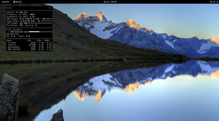 Как добавить системную информацию на рабочий стол Linux